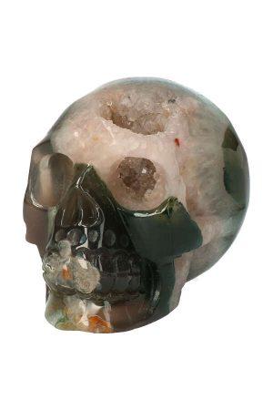 mosagaat kristallen schedel, geode schedel, crystal skull, geode crystal, kopen