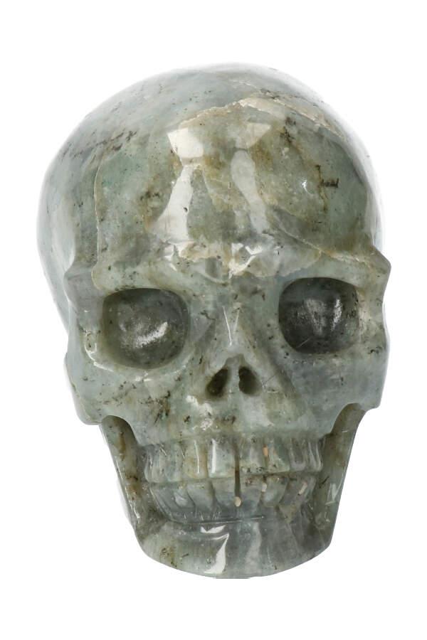 Labradoriet skull, 10 cm, 763 gram