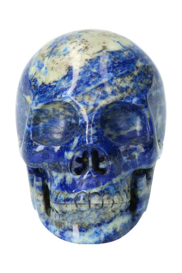 Lapis Lazuli kristallen schedel open kaak, 10 cm, 839 gram