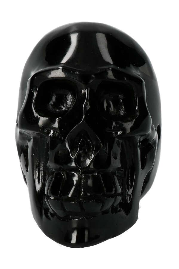 Obsidiaan Crystal Skull, 528 gr, 9.5 x 5.5 x 8 cm