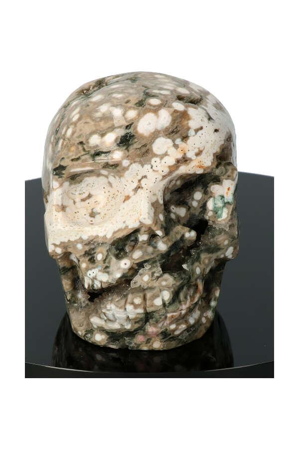 Oceaan Jaspis kristallen schedel, ocean jasper crystal skull, kopen