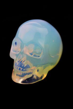 Opaliet kristallen schedel, 5 cm, opalite crystal skull, kleine schedel, kopen