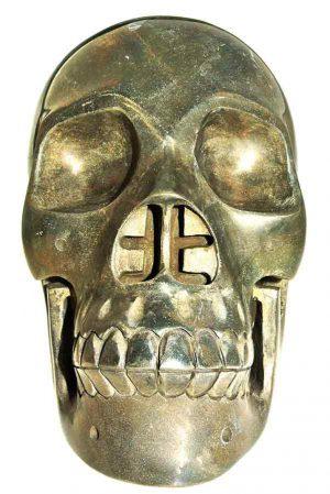 Pyriet kristal schedel, pyriet crystal skull, kristallen schedel pyriet, pyriet schedel, pyriet skull, pyriet crystal skull groot, pyriet grote realistische kristallen schedel