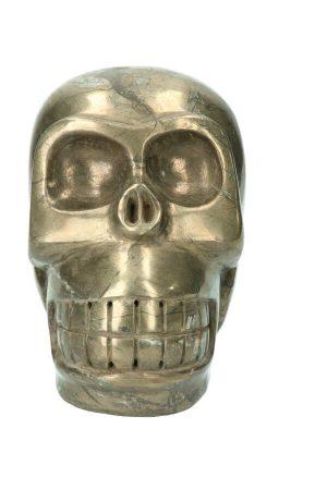 Grote Pyriet kristallen schedel, 18.5 cm, 11.3 kg, pyriet crystal skull, kristallen schedel pyriet, pyriet schedel, pyriet skull, pyriet crystal skull groot,, pyriet crystal skull