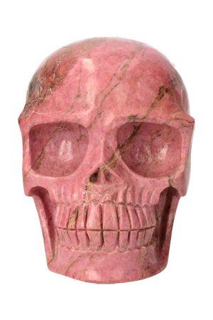 Rhodoniet grote kristallen schedel, 10.5 cm, 870 gram, rhodonite crystal skull, edelsteen schedel, edelstenen skull, kopen, arnhem