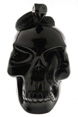 obsidiaan slangenschedel, obsidian snake skull, kristallen schedel, crystal skull, kopen, edelstenen, edelsteen, mineralen
