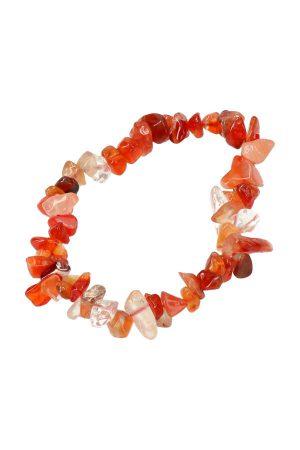 Carneool splitarmband, 18 cm, carnelian bracelet, chips, kopen, edelsteen amrband, edelstenen, sieraad, sieraden