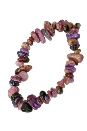 Charoiet splitarmband, 18 cm, charoite chips bracelet, kopen, edelsteen, edelstenen, armbandje, spiritueel