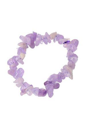 Lavendel amethist armband, splitarmband, edelsteen armband, kopen