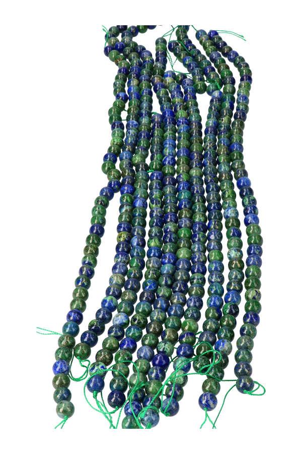 Azuriet met Malachiet kralen 10 mm, streng 41 cm, circa 40 kralen