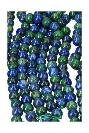 Azuriet met Malachiet kralen 8 mm, azuurmalachiet streng, edelsteen kralen, edelsteen ronde kralen, azuriet kralen, malachiet kralen, powerbead, beads, kopen