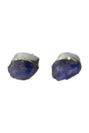Tanzaniet zilveren oorknopjes, 925 sterling, tanzanite, tanzaniet oorbellen, edelsteen oorbel, edelstenen oorbellen, kopen, earbut, sieraden