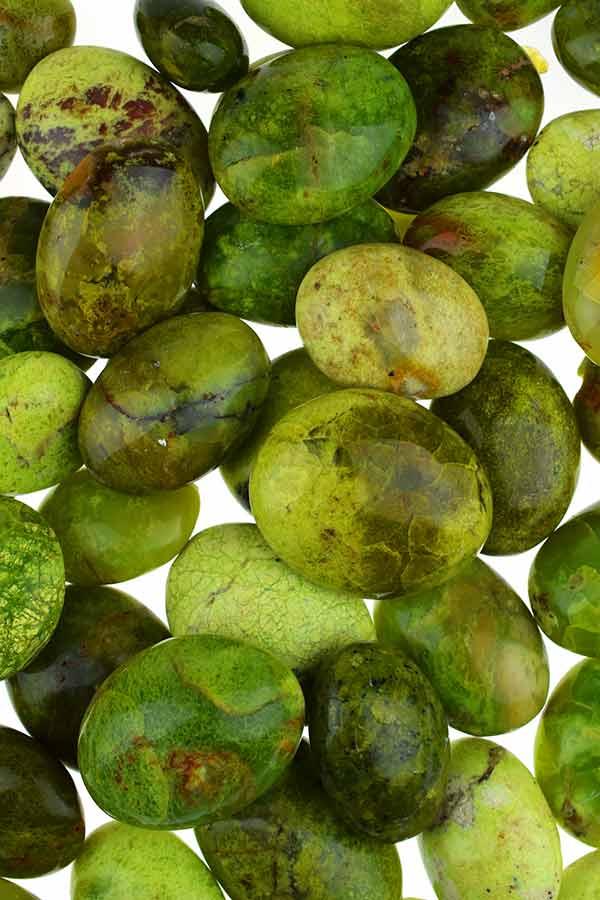Groene Opaal palm steen, Madagaskar, diverse maten