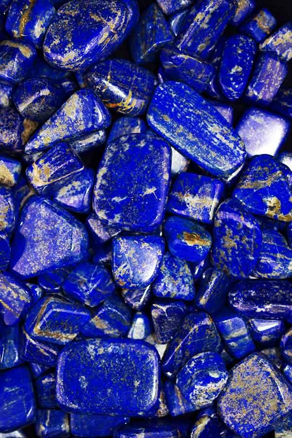 Lapis Lazuli trommelstenen top kwaliteit, 50 gram, 2 - 5 cm, 3-5 stuks, Afghanistan