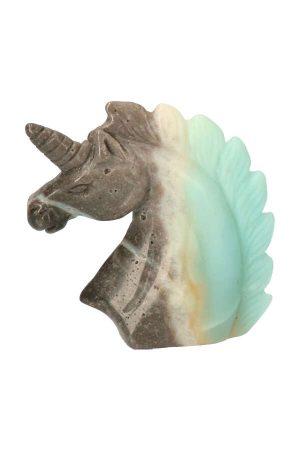 Amazoniet edelsteen eenhoorn, 8 cm hoog, 109 gram, Amazoniet eenhoorn, amazonite unicorn, edelsteen eenhoorn, edelstenen, amazoniet kopen, Toermalijn met Amazoniet edelsteen Eenhoorn,
