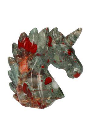 Bloedsteen edelsteen eenhoorn, heliotroop, bloodstone, heliotrope, kopen, edelstenen eenhoorn