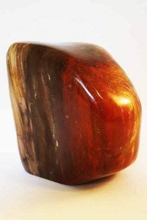 versteend hout, petrified wood, fossiel hout, versteen hout sculptuur, sculptuur, gepolijst, polished, polijst, kopen, bestellen, edelsteen, edelstenen, mineralen, mineraal, rood, madagaskar, madagascar