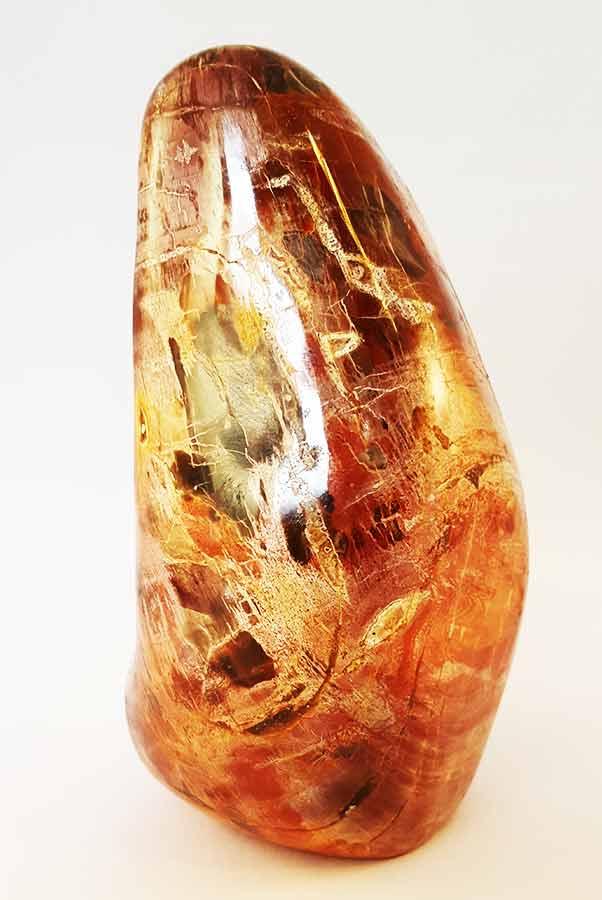fossiel hout sculptuur 12.5 cm, 784 gram