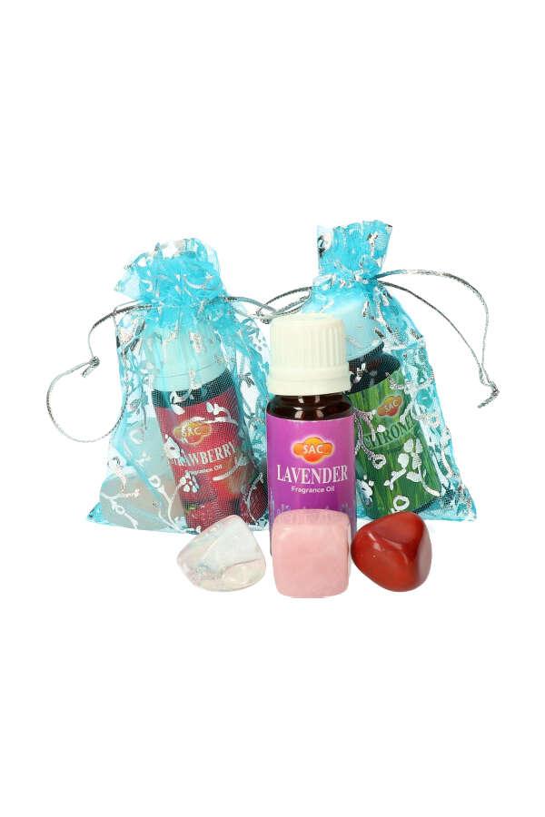 edelsteen voetenbad jaspis, bergkristal, rozenkwarts