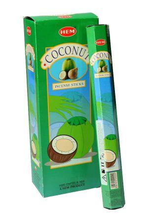 Coconut (kokos) wierook HEM, Wilde Orchidee, wierook stokken, stokjes, HEM, hexagonaal, incense, kopen