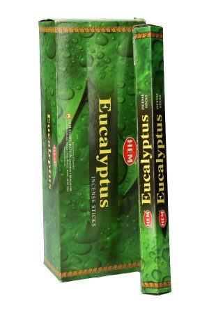 Eucalyptus wierook HEM, Sage White (Salie) wierook, HEM, witte salie, wierook stokken, stokjes, HEM, hexagonaal, incense, kopen