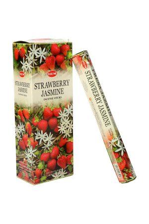 Aardbei Jasmijn wierook HEM (Strawberry Jasmin), wierook stokken, stokjes, HEM, hexagonaal, incense, kopen