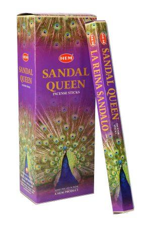 Sandal Queen wierook (Sandelhout), HEM, wierook stokken, stokjes, HEM, hexagonaal, incense, kopen