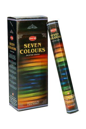 Seven colours (zeven kleuren) wierook, HEM, wierook stokken, stokjes, HEM, hexagonaal, incense, kopen