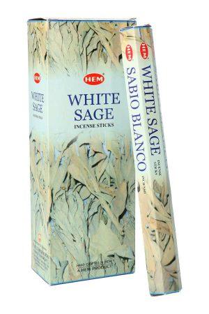 Sage White (Salie) wierook, HEM, witte salie, wierook stokken, stokjes, HEM, hexagonaal, incense, kopen