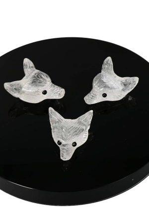 Bergkristal wolfhanger, wolfje, edelsteen wolf, edelstenen wolfje, kopen