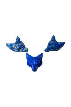 lapis lazuli wolf hanger, wolvenhanger, edelsteen hanger, wulf, ketting, pendant, kopenwolvenkop, hoofd