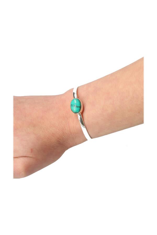 Turkoois zilveren armband, verstelbaar, 925 sterling