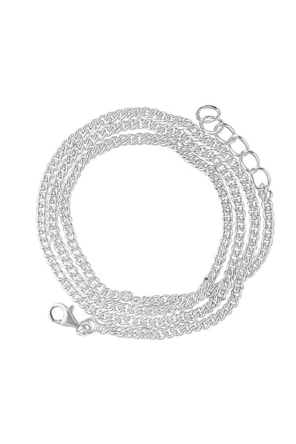 ketting breed, 925 sterling zilveren ketting, 47-49.5 cm, silver chain, collier, hanger, sieraden, sieraad, juwelen, juweel, kopen