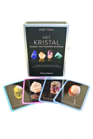 Het Kristal orakel van helende wijsheid - Judy Hall, Orakel set, judy hall, het kristal, orakel van helende wijsheid, isbn 978 90 483 1424 9, kopen, tarot set, edelstenen kaarten, orakel kaarten