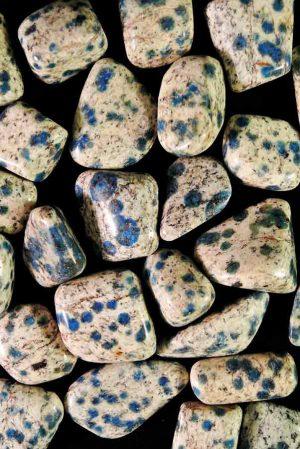 azuriet, graniet, k2 steen, trommelsteen, trommelstenen, getrommeld, knuffelsteen, gepolijst, kopen, pakistan