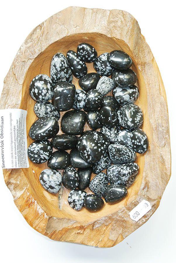 Sneeuwvlok Obsidiaan Trommelstenen