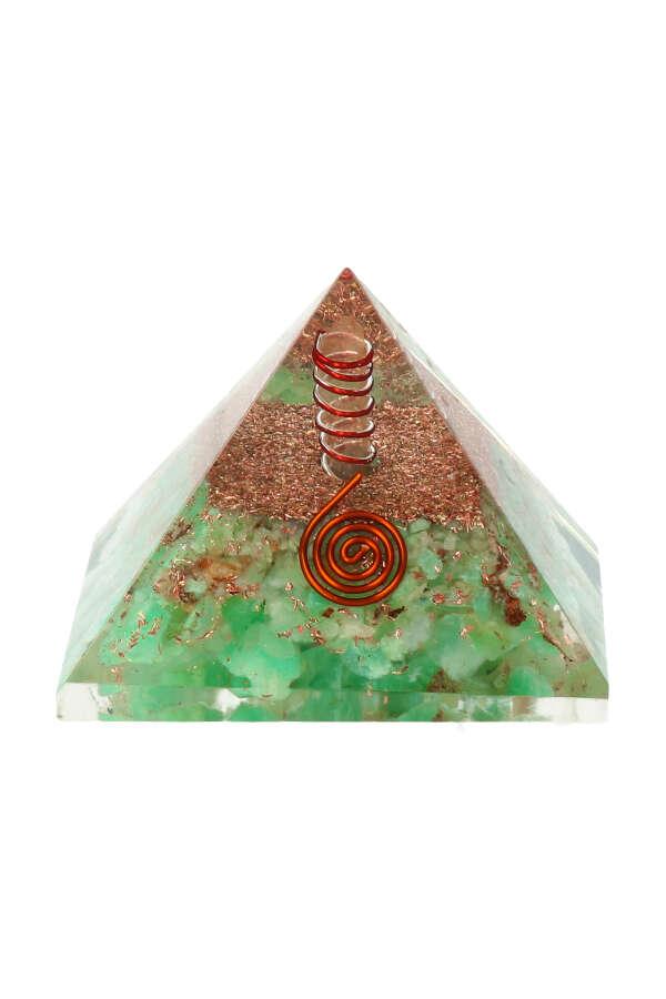 Orgoniet piramide 'Relax' Chrysopraas, 7.2 cm