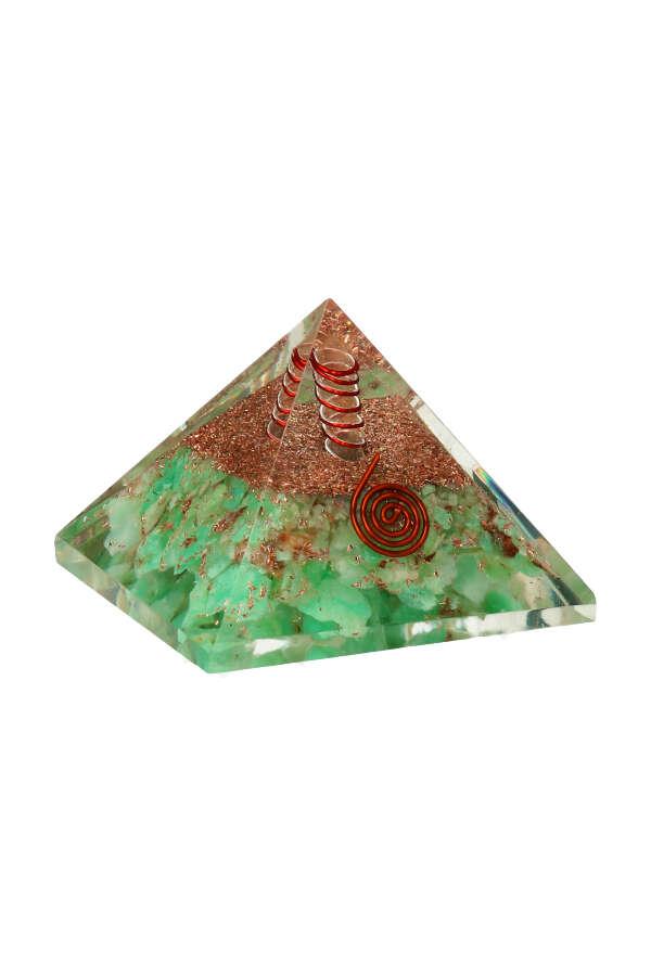 Orgoniet piramide 'Relax' Chrysopraas, chrysoprase pyramid, orgonite, orgone, relax piramide, kopen