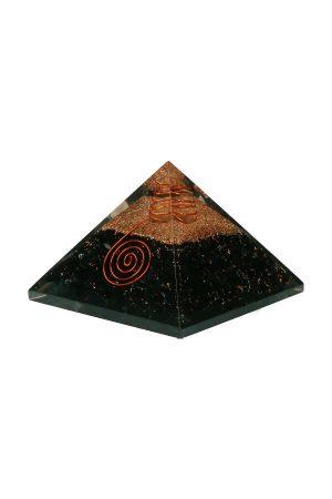 Orgoniet piramide 'Straling Vrij' Toermalijn, turmaline orgobite pyramid, kopen, edelsteen piramide