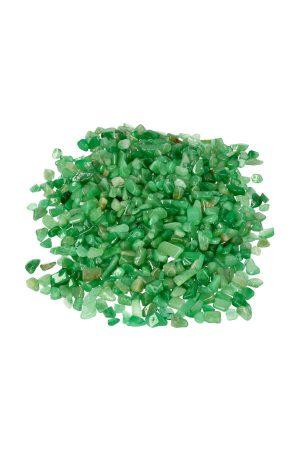 Aventurijn chips TOP kwaliteit! zak van 100 gram tot 1 kilo, 0.8 tot 1.8 cm per steentje ook wel kleine steentjes of edelsteen grind genoemd