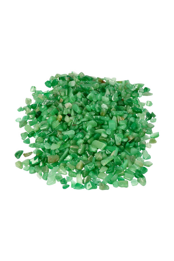 Aventurijn chips TOP kwaliteit! zak van 100 gram tot 1 kilo, 0.8 tot 1.8 cm per steentje