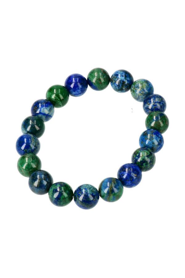 Azuriet met Malachiet armband, 10 mm, 18 en 19 cm