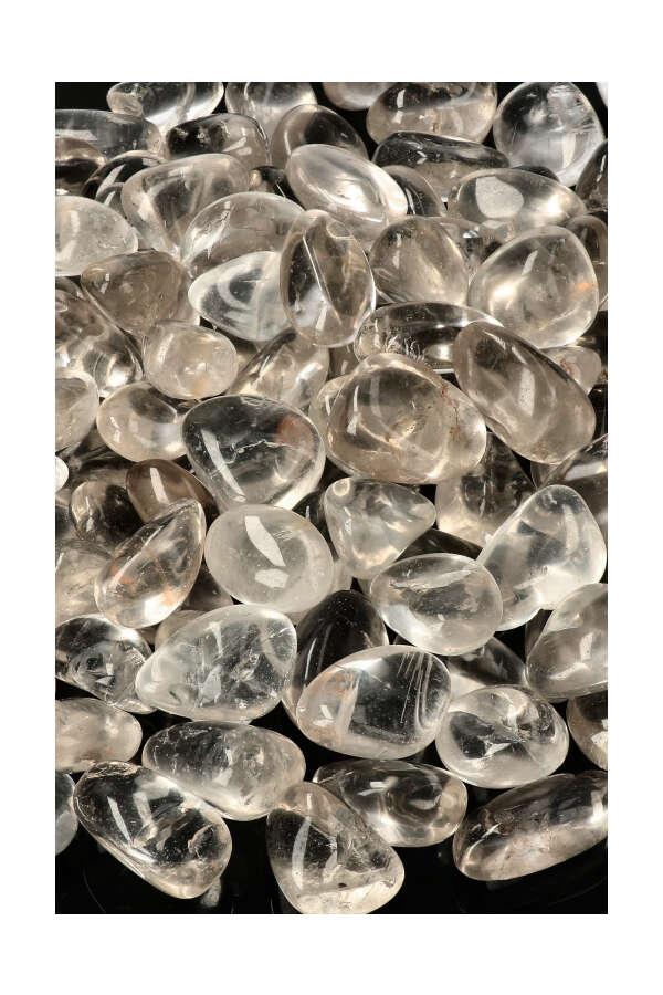 Bergkristal stenen, 2-3 cm, 100 gram tot 1 kilo