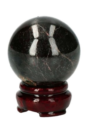 granaat edelsteenbol, garnet boll, bal, edelstenen bol, edelsteen bol
