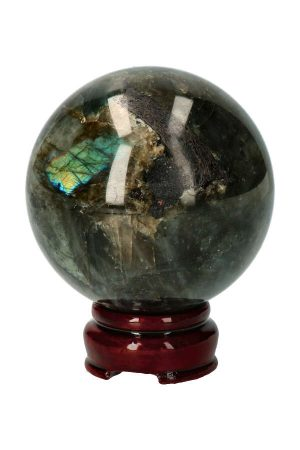 Labradoriet edelsteen bol uit Madagaskar zeer goed gepolijst