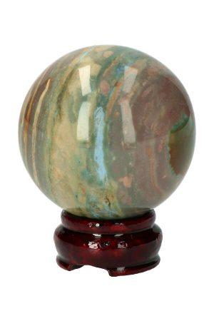 oceaan jaspis bol, ocean jasper sphere, edelsteen bol, edelstenen, kopen