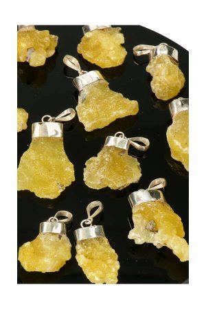 Bruciet zilveren hanger, bruciet hanger zilver, edelsteen, edelstenen, kopen, brucite pendant