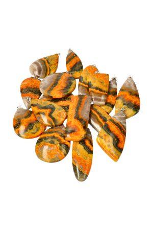 Bumblebee Jaspis hanger, edelsteen hanger, edelstenen, pendant, eclips stone, sukabumi, indonesie, ketting