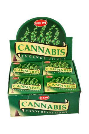 Cannabis kegel wierook, HEM, cones, cannabis incense, kegeltjes, kopen