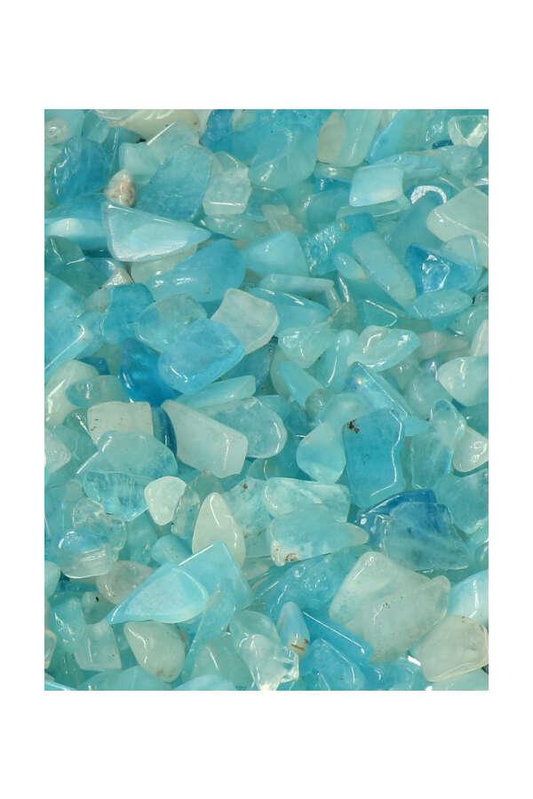 Aquamarijn chips, Aquamarijn mini steentjes, getrommeld, kleine stenen, aquamarine, kopen